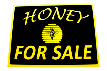 Honey Sale Sign - Black