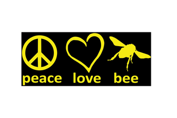 Peace, Love, Bees - Bumper Sticker