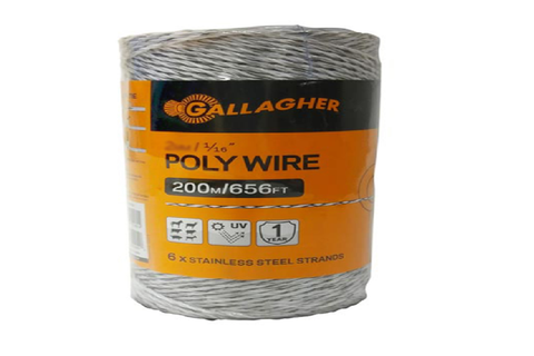 "Poly Wire 2mm / 1/16"" 200m"