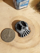 Haunted Skull Inspired Pin or Magnet