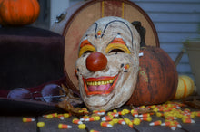 Vintage Candy Corn Clown Mask