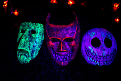 Trick or Treater's Masks (UV Painted)