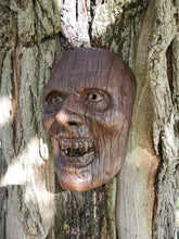 Wood Grain Creepy Mask