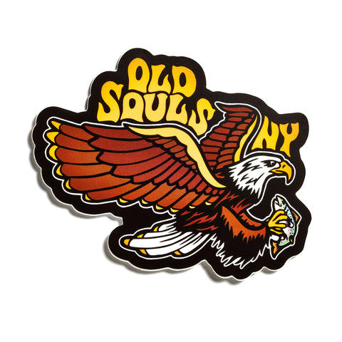 Old Souls Rod & Gun Pin Black & Yellow