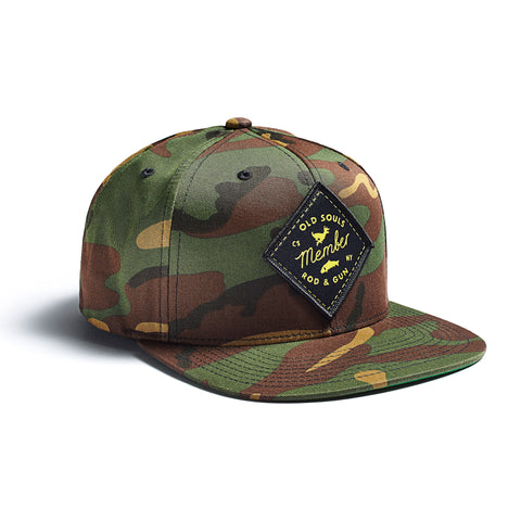 Old Souls Rod & Gun Cap Black Multicam Yellow Patch