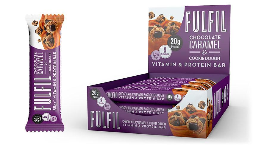 Fulfil Fulfil Vitamin & Protein Bar 55g / Chocolate Caramel Cookie Dough Protein Bars The Good Life