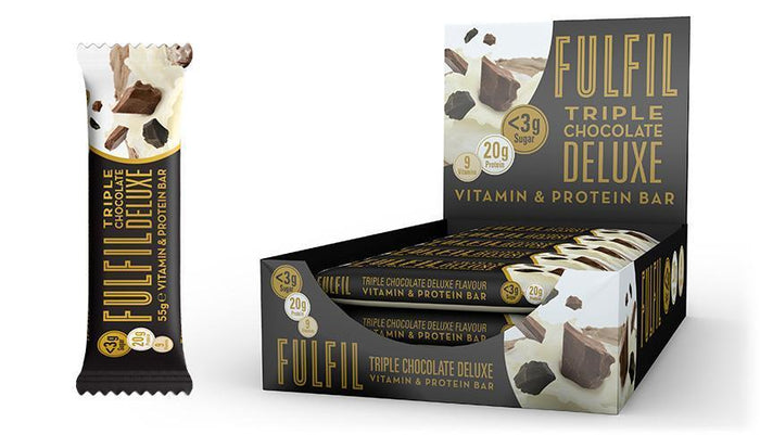 Fulfil Fulfil Vitamin & Protein Bar 55g / Triple Chocolate Deluxe Protein Bars The Good Life