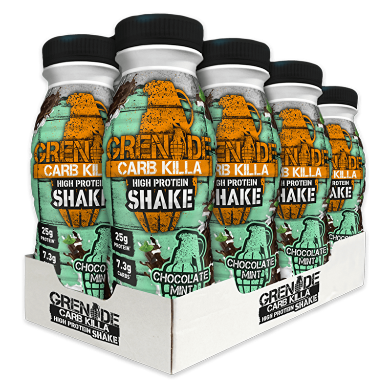 Grenade Grenade Carb Killa Protein Drink Shake 8x330ml / Chocolate Mint RTD The Good Life