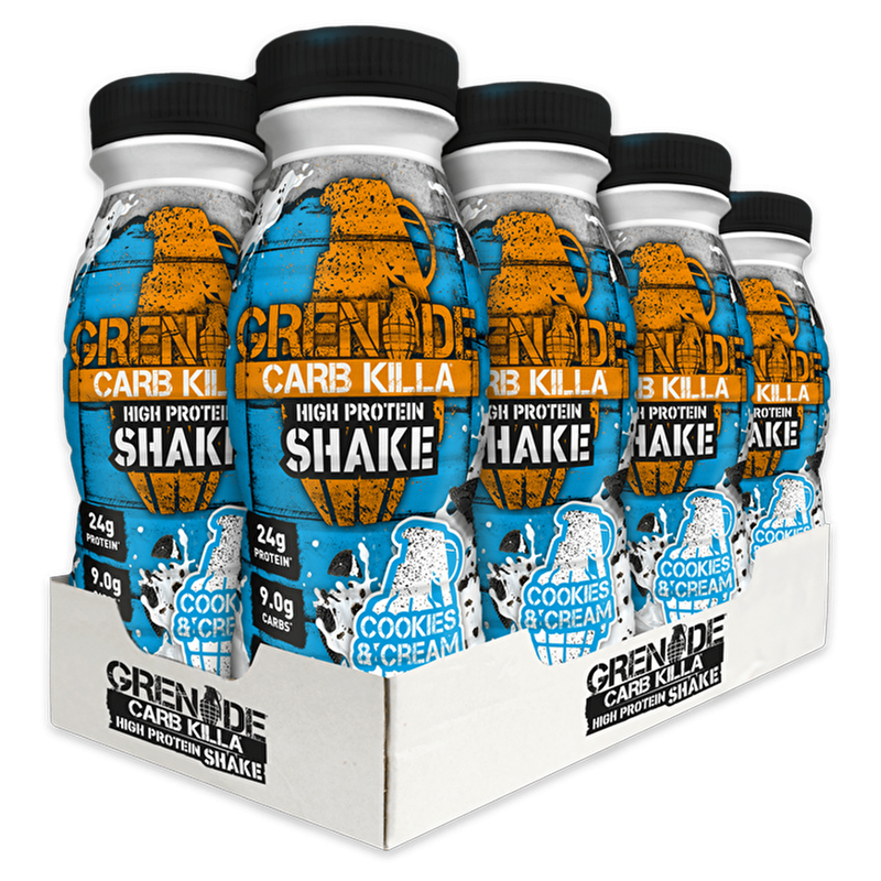 Grenade Grenade Carb Killa Protein Drink Shake 8x330ml / Cookies & Cream RTD The Good Life