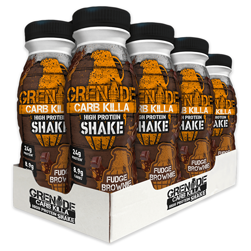 Grenade Grenade Carb Killa Protein Drink Shake 8x330ml / Fudge Brownie RTD The Good Life