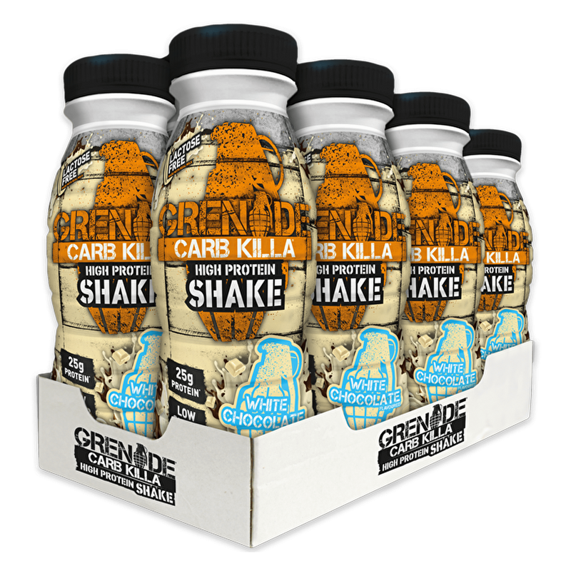 Grenade Grenade Carb Killa Protein Drink Shake 8x330ml / White Chocolate RTD The Good Life