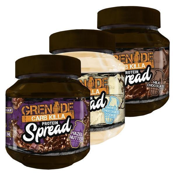 Grenade Grenade Carb Killa Protein Spread - 3 Flavour Bundle 360g / All 3 Flavours Spread The Good Life