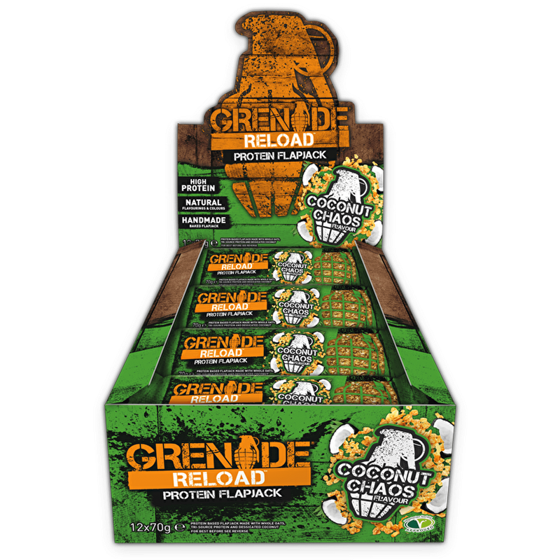 Grenade Grenade Reload Flapjacks 12x70g / Coconut Chaos Protein Bars The Good Life