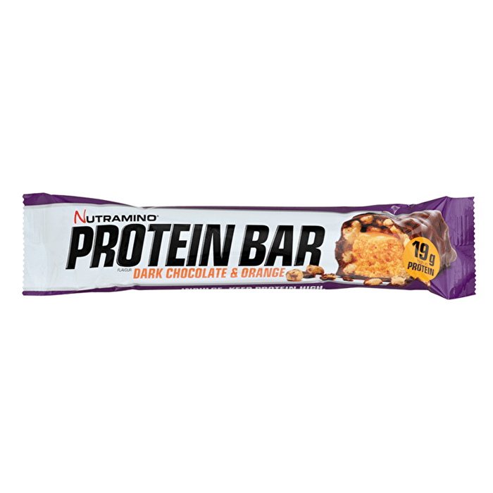 Nutramino Nutramino Protein Bar 12x64g / Crispy Dark Choc Orange Protein Bars The Good Life