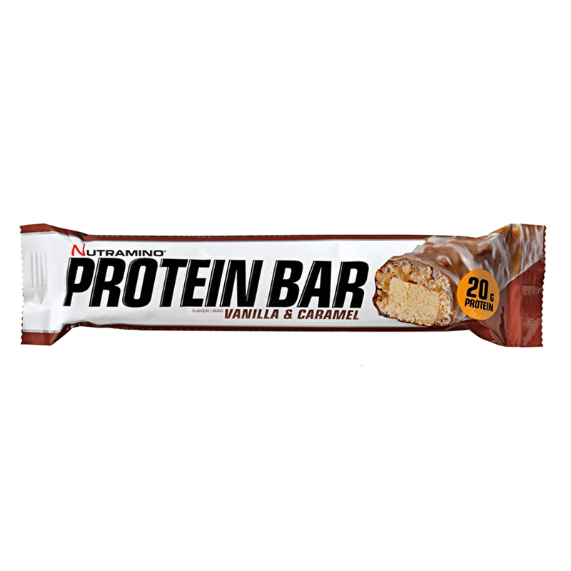 Nutramino Nutramino Protein Bar 64g / Vanilla & Caramel Protein Bars The Good Life