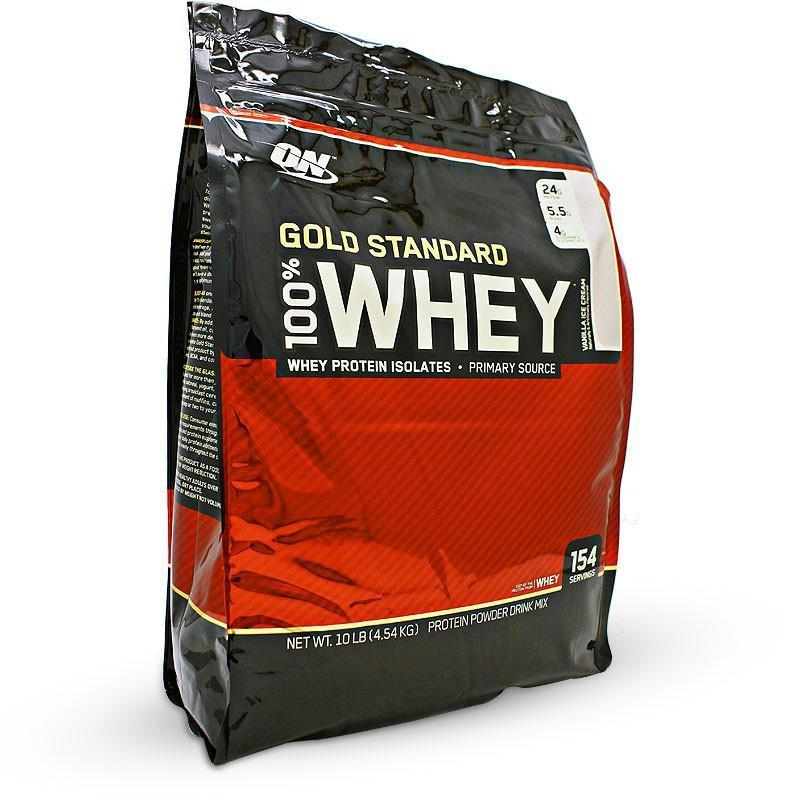 Optimum Nutrition Optimum Nutrition 100% Gold Standard Whey 4.54kg / Vanilla Ice Cream Whey Protein The Good Life