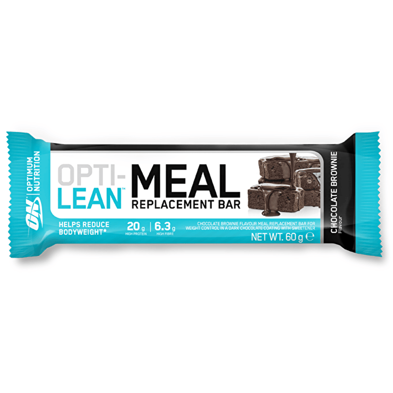 Optimum Nutrition Optimum Nutrition Opti-Lean Meal Replacement Bar 12x60g / Chocolate Brownie Protein Bars The Good Life