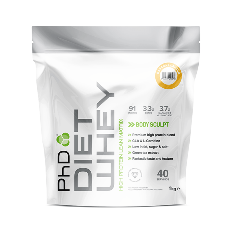 PhD PhD Diet Whey 1kg / Banana Whey Protein The Good Life