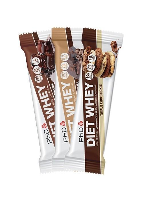 PhD Diet Whey Protein Bar Mix & Match All Flavours