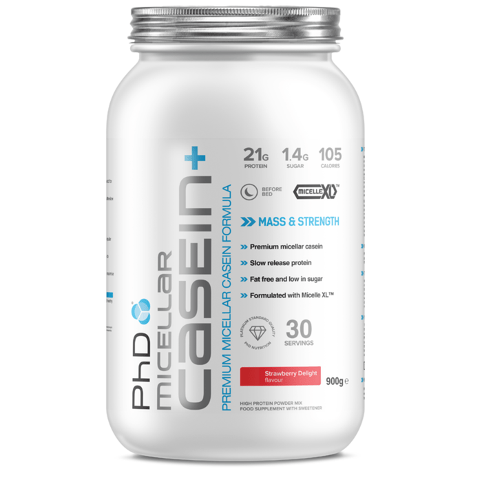 PhD PhD Nutrition Micellar Casein+ 900g / Strawbery Delight Casein The Good Life