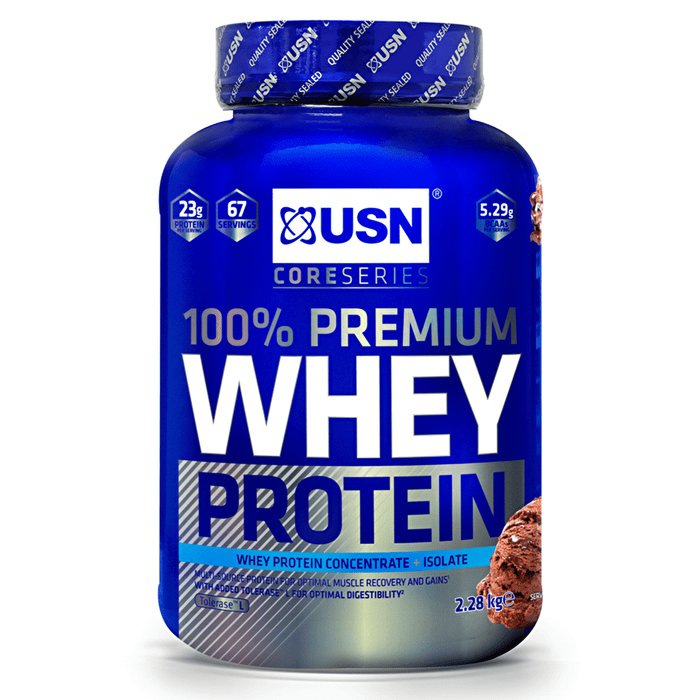 USN USN 100% Premium Whey 2.2kg / Banana Whey Protein The Good Life