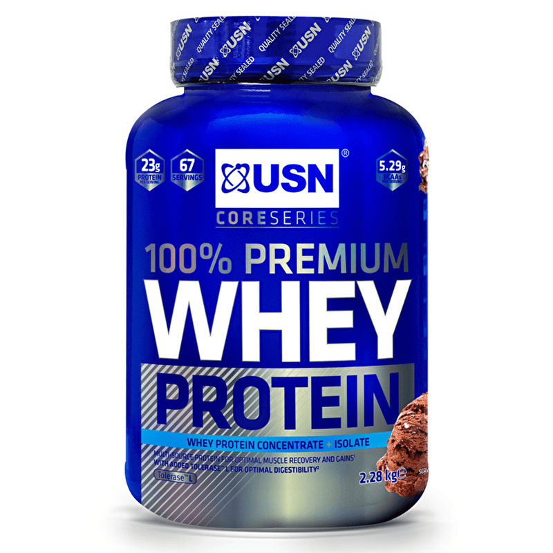 USN USN 100% Premium Whey 2.2kg / Raspberry Whey Protein The Good Life