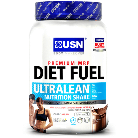 USN USN Diet Fuel Ultralean 1kg / Banana Caramel Meal Replacement The Good Life