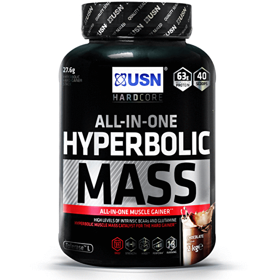 USN USN Hyperbolic Mass 2kg / Strawberry Mass Gainer The Good Life