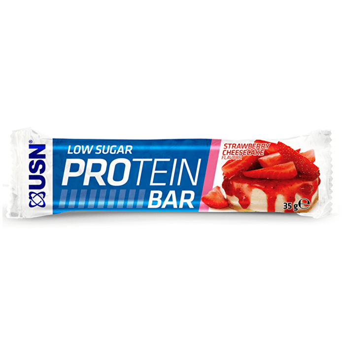 USN USN Low Sugar Protein Bar 35g / Strawberry Cheesecake Protein Bars The Good Life