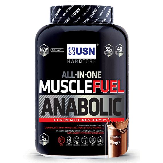USN USN Muscle Fuel Anabolic 2kg / Strawberry Mass Gainer The Good Life