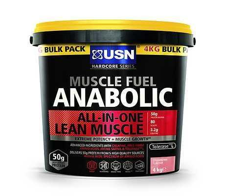 USN USN Muscle Fuel Anabolic 4kg / Strawberry Mass Gainer The Good Life