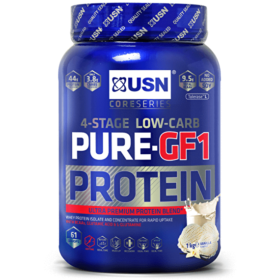 USN USN Pure Protein GF-1 1kg / Caramel Popcorn Whey Protein The Good Life