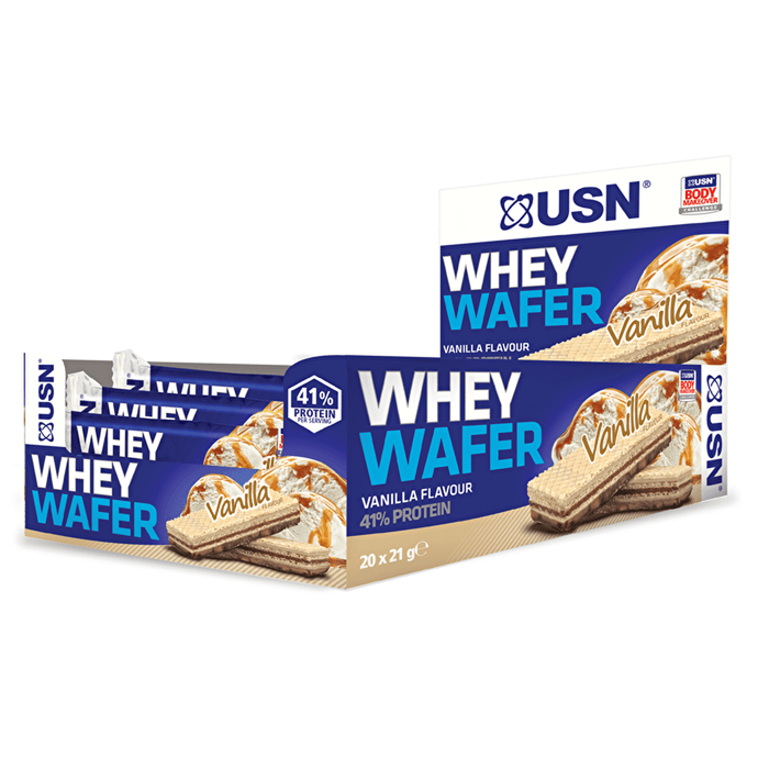 USN USN Whey Wafer 20x21g / Vanilla Protein Bars The Good Life