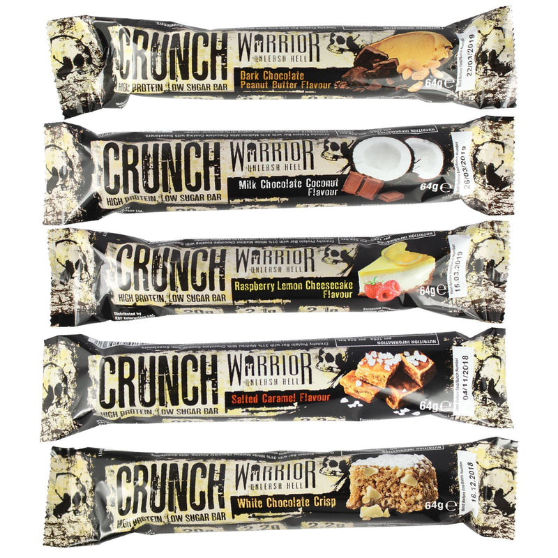 Warrior Warrior Crunch Mix & Match 12 Protein Bars Protein Bars The Good Life
