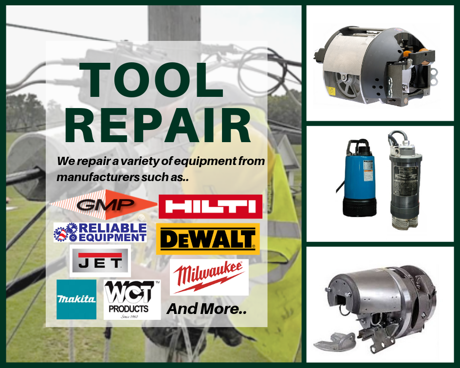 TesCom Tool Repair Lashers, Pumps, Hoists, Power Tools