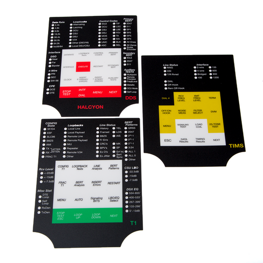 704A Series Insert/Overlay Label Set