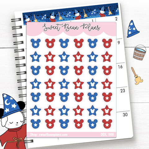 Sorcerer Tiny Icons Vinyl Planner Stickers | Ddl 008
