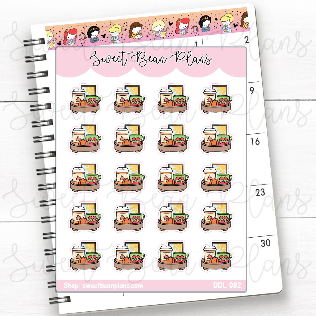 Halloween Bubble Boxes Doodles Planner Stickers | Ddl 092
