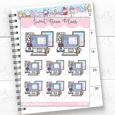 St. Patrick's Sticky Note Doodles Hand Drawn Planner Stickers | Ddl 127