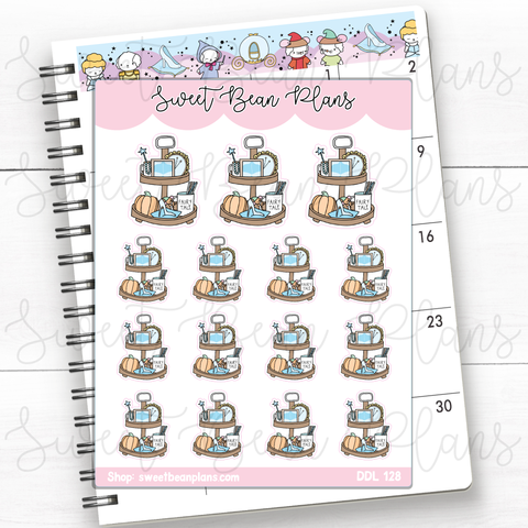 St. Patrick's Gnomes Doodles Hand Drawn Planner Stickers | Ddl 128