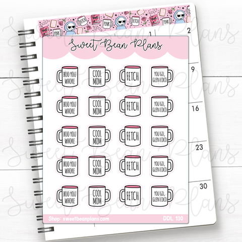 Soda Doodles Hand Drawn Planner Stickers | Ddl 130