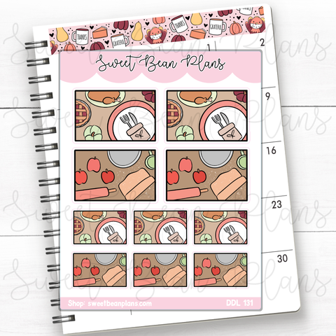 Breakfast Waffles Doodles Hand Drawn Planner Stickers | Ddl 131