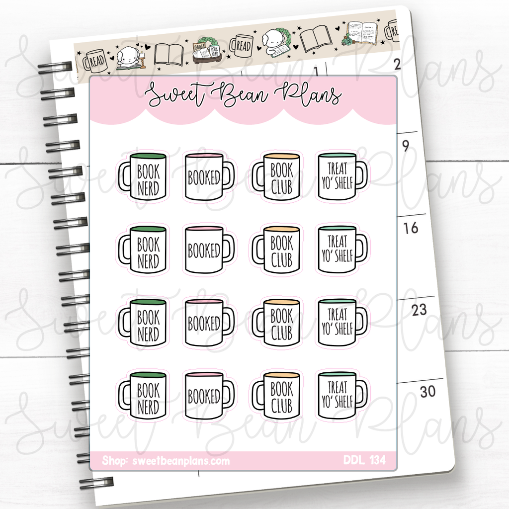 Avocado Toast Doodles Hand Drawn Planner Stickers | Ddl 134