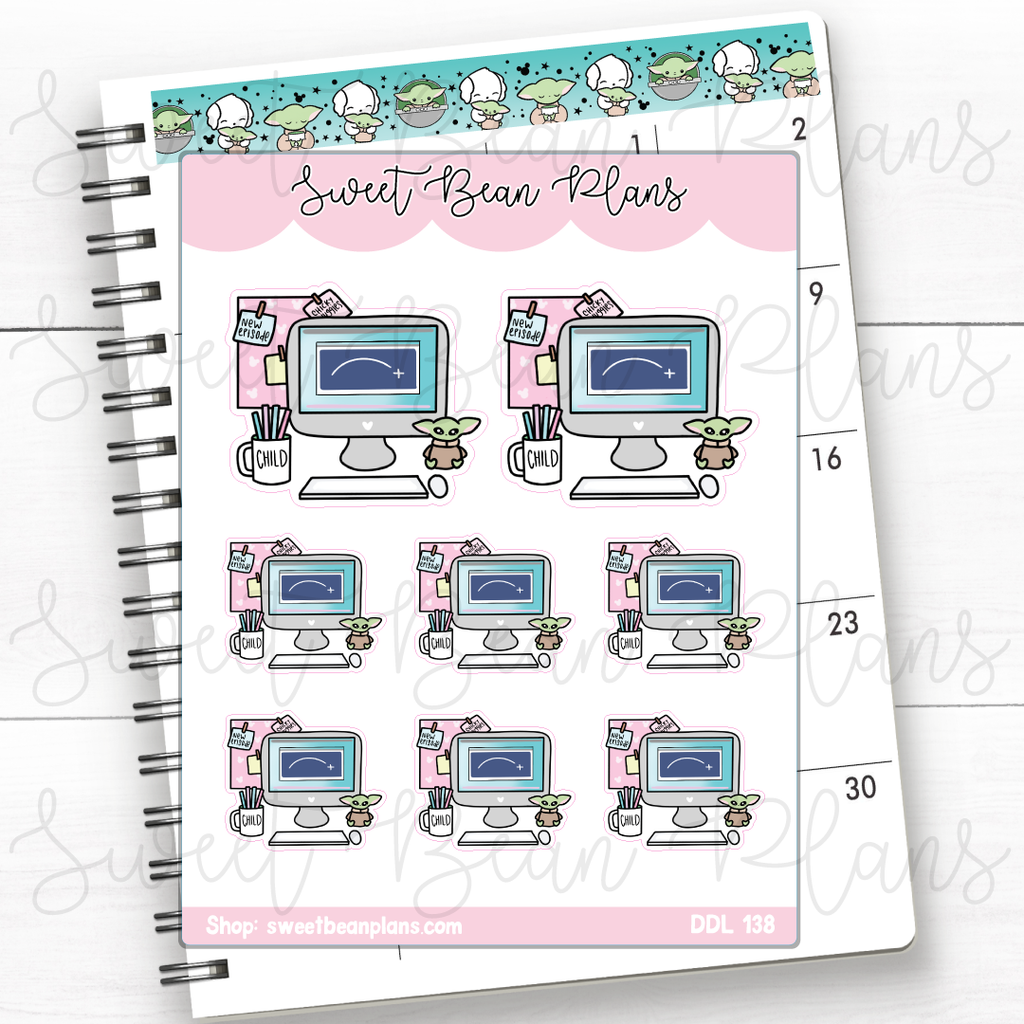 Fried Chicken Doodles Hand Drawn Planner Stickers | Ddl 138