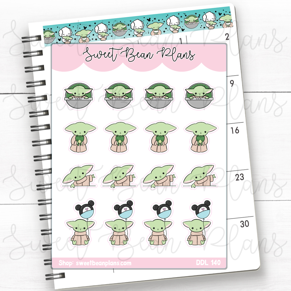 Fruit Bowl Doodles Hand Drawn Planner Stickers | Ddl 140