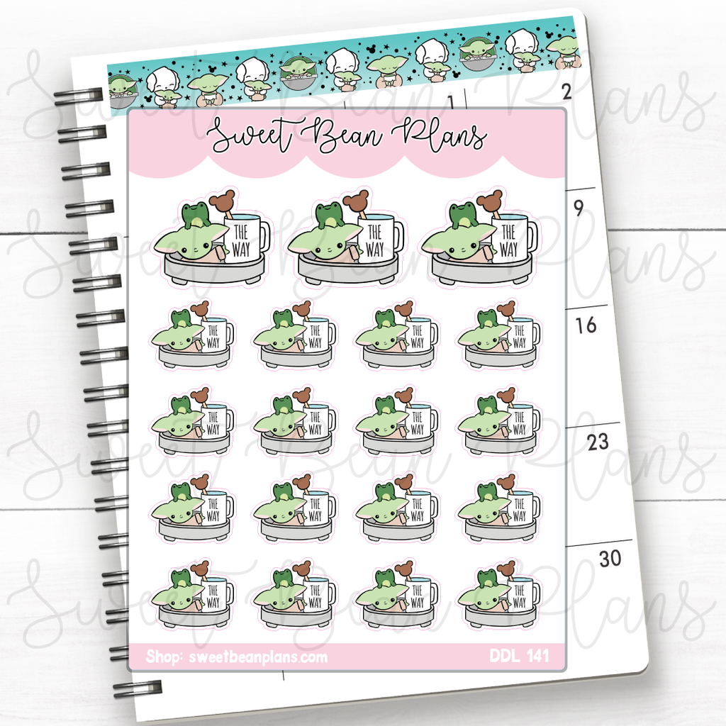 Birthday Cake Doodles Hand Drawn Planner Stickers | Ddl 141