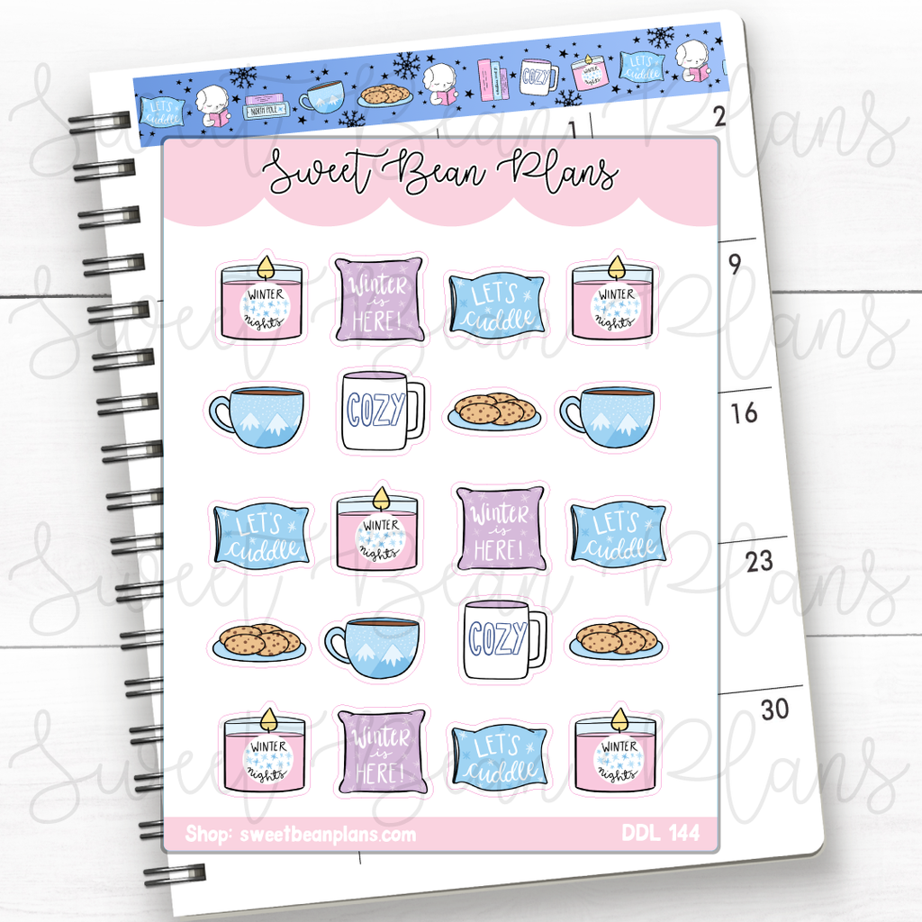 Pop On Nails Doodles Hand Drawn Planner Stickers | Ddl 144