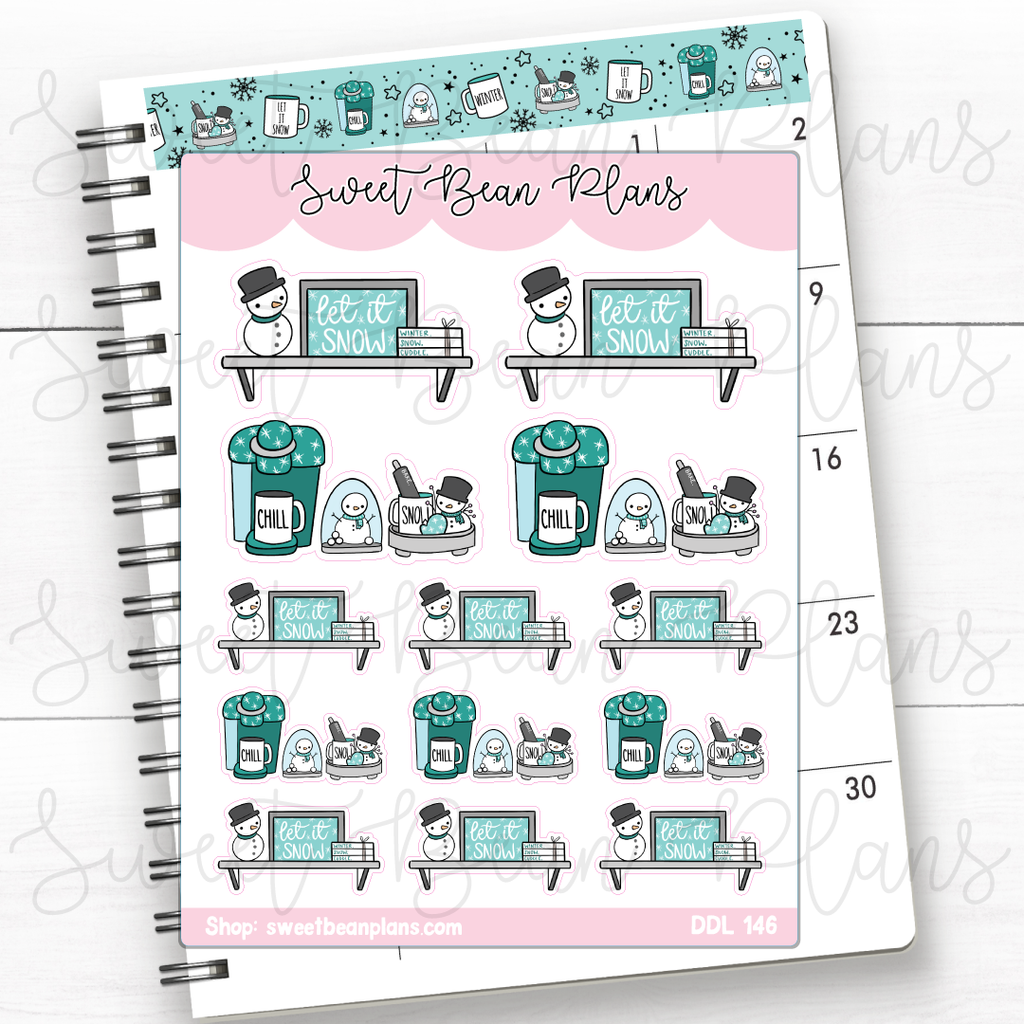 The Baby Balloon Doodles Hand Drawn Planner Stickers | Ddl 146