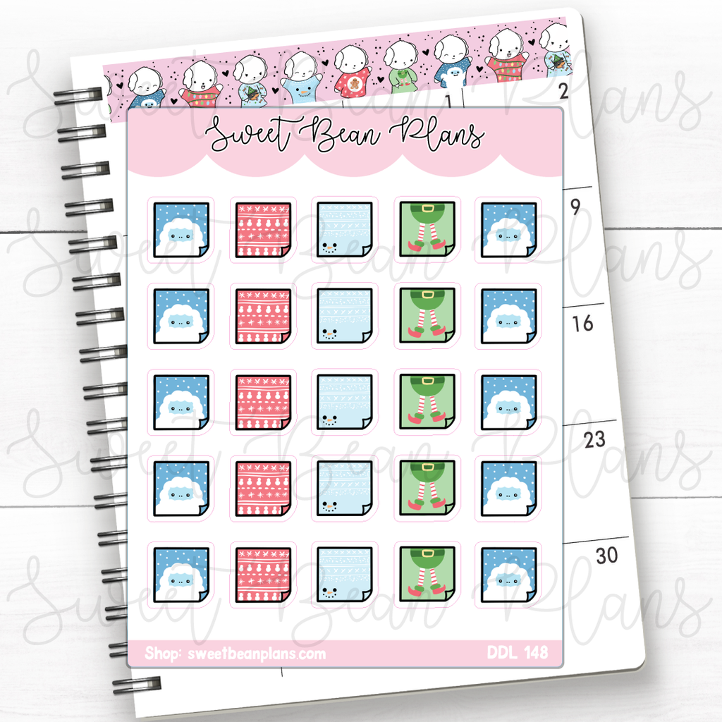 The Baby Coffee Mugs Doodles Hand Drawn Planner Stickers | Ddl 148