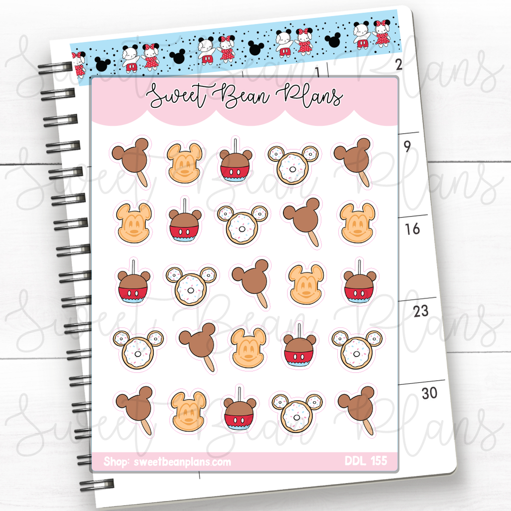 Easter Ears Doodle Planner Stickers | Ddl 155